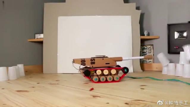 手工制作纸板玩具会开炮这个你能玩上一整天,太厉害了