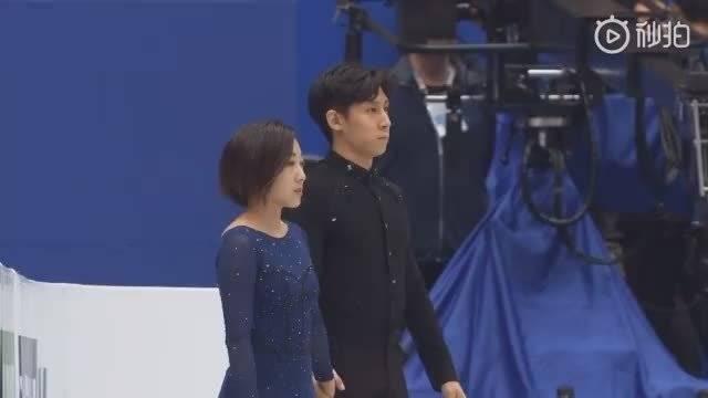 在日本埼玉举办的2019世界花样滑冰锦标赛上,隋文静、韩聪摘得金牌