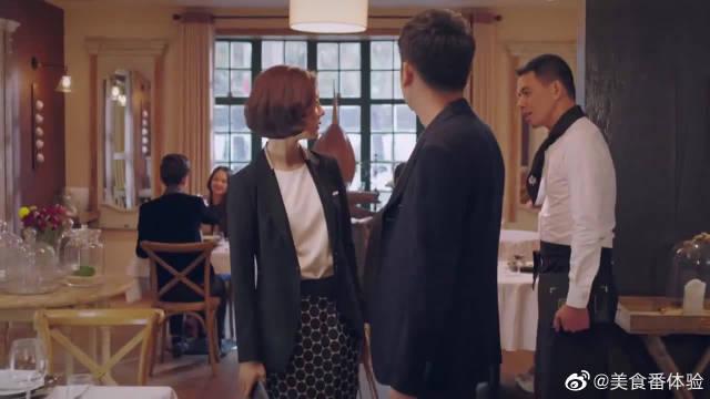 帅哥跟高雅文吃饭,谁知两人饭吃到一半,竟碰见她老板!