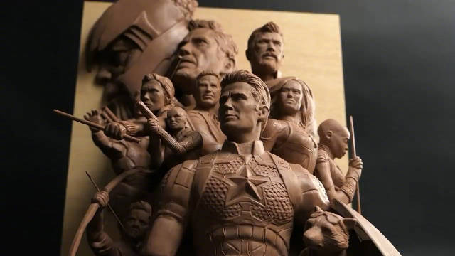 《复仇者联盟:终局之战》海报的3D再现
