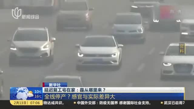 新华社:延迟复工宅在家——霾从哪里来?  静稳天气和污染物排放总量过大是此轮雾霾主要原因
