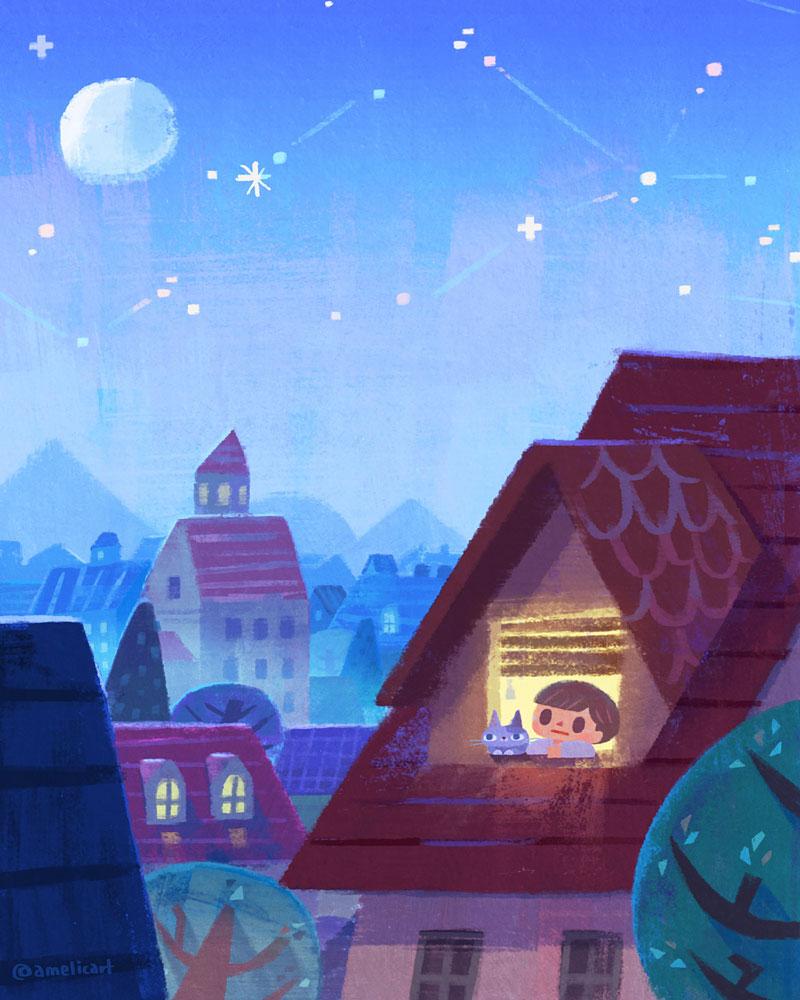 插画师Amelicart /アメリカ作者为儿童读物项目设计的作品