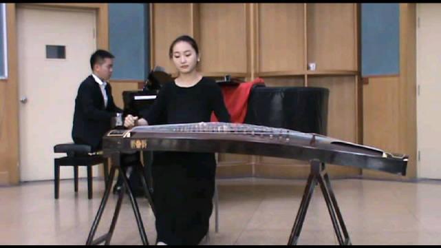 古筝协奏曲《诀》,古筝 申依靖。熟悉的中央音乐学院琴房~