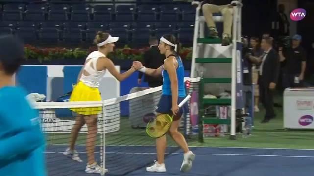 WTA迪拜顶级赛首轮,万卓索娃以6-3/6-2完胜塞瓦斯托娃