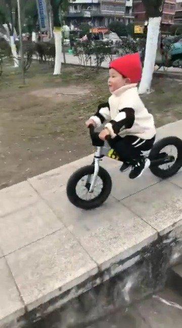 两岁半宝宝骑平衡车自己就会了马踏飞燕……别人的两岁半……看了看我