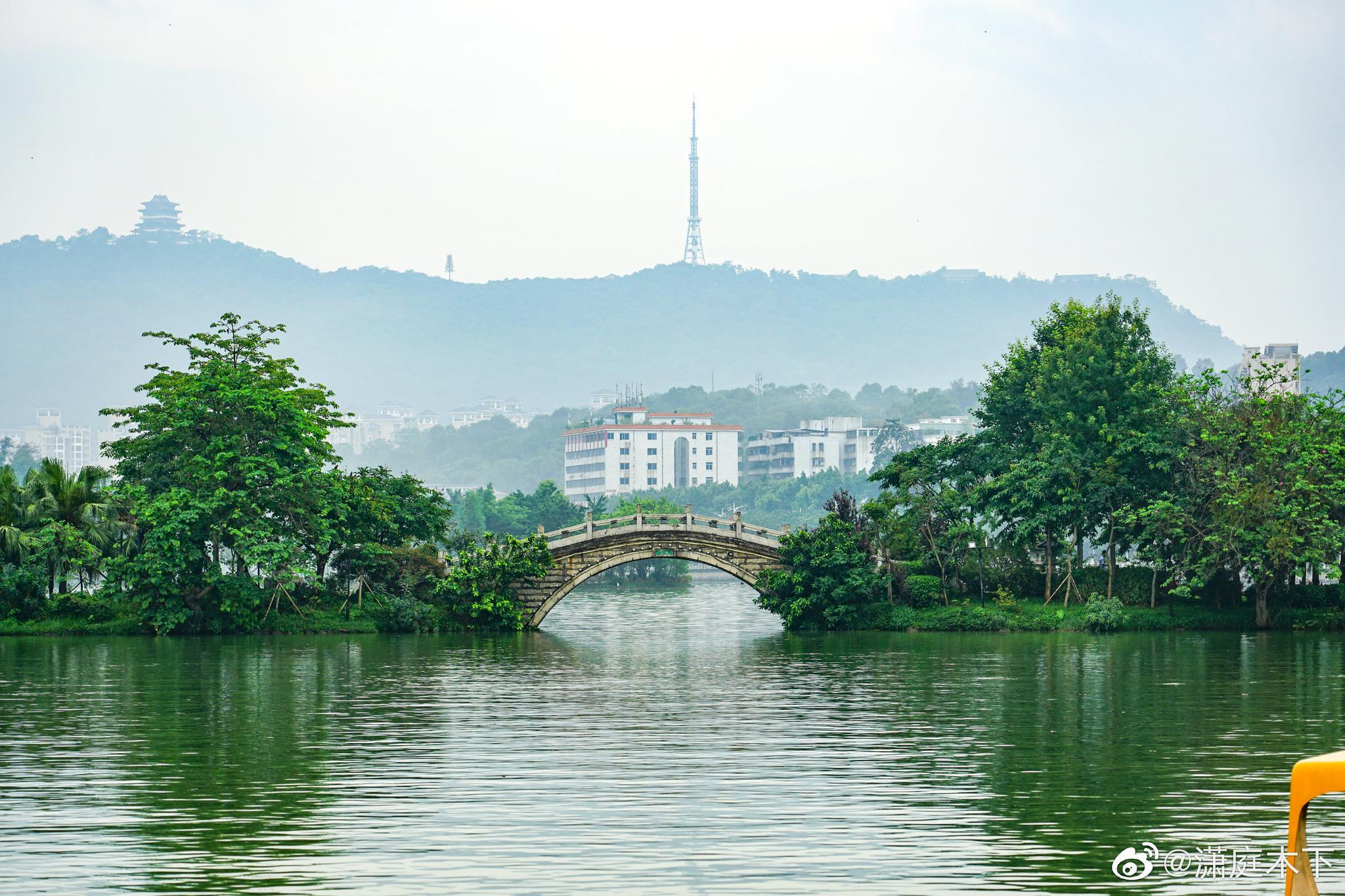 观鸟台,泗洲塔,惠州西湖风光