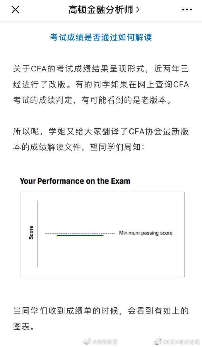 怎样看懂CFA高大上的成绩单?