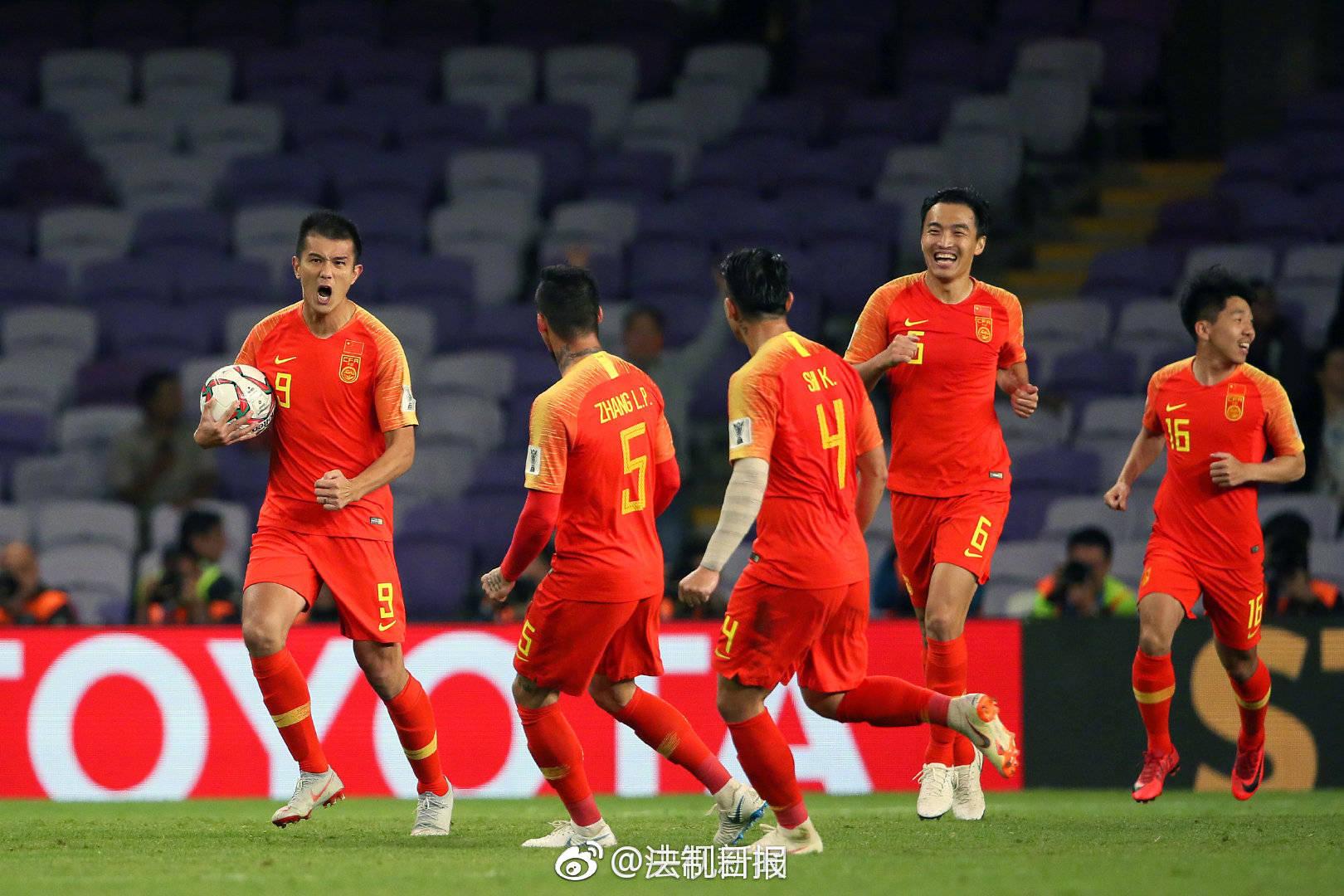 中国队2:1泰国中国队,请继续赢下去