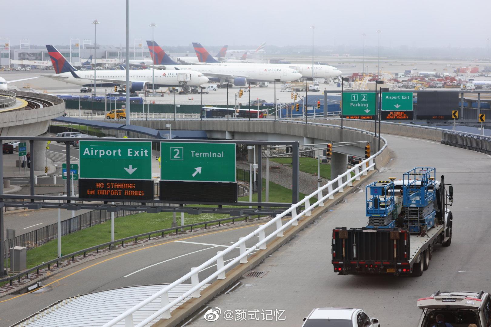 纽约肯尼迪机场拾画。