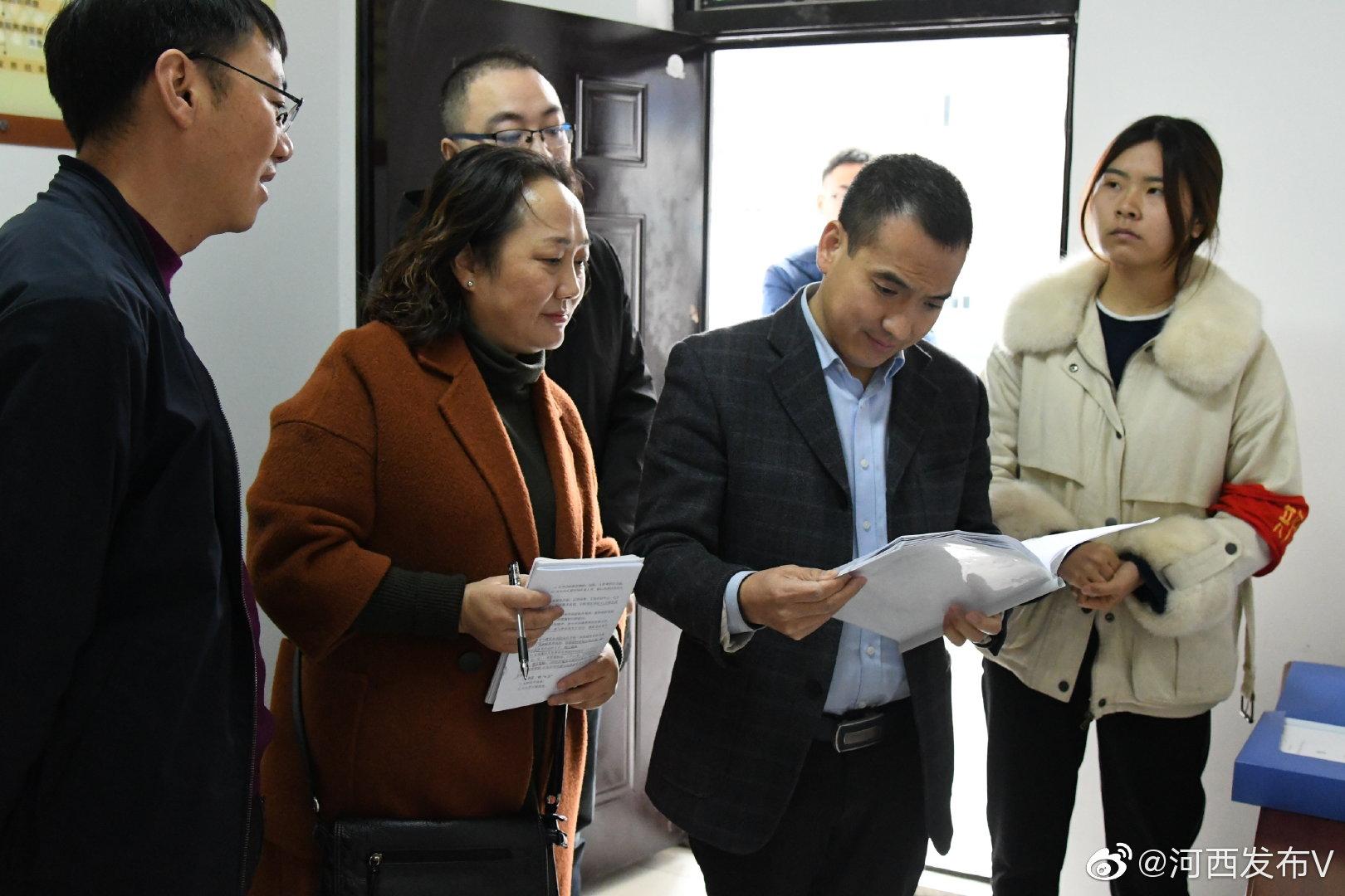 区人民政府副区长李波检查指导河西街道创建第六届全国文明城市工作