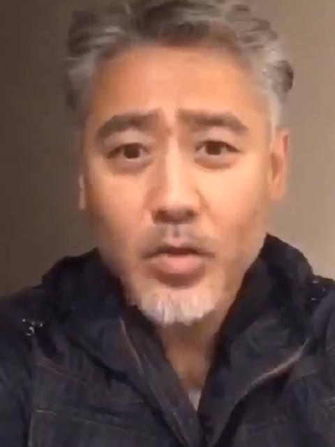许久未见的吴秀波为某艺考学校录制祝福视频