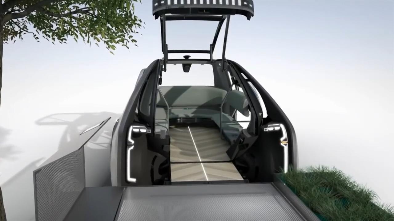 新型汽车没有方向盘和驾驶座,车门在正前方,自动驾驶达到了4级