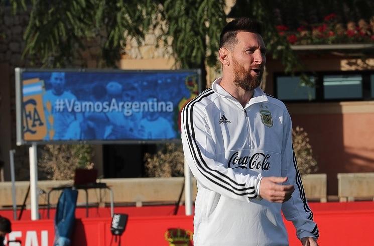 梅西在阿根廷国家队训练
