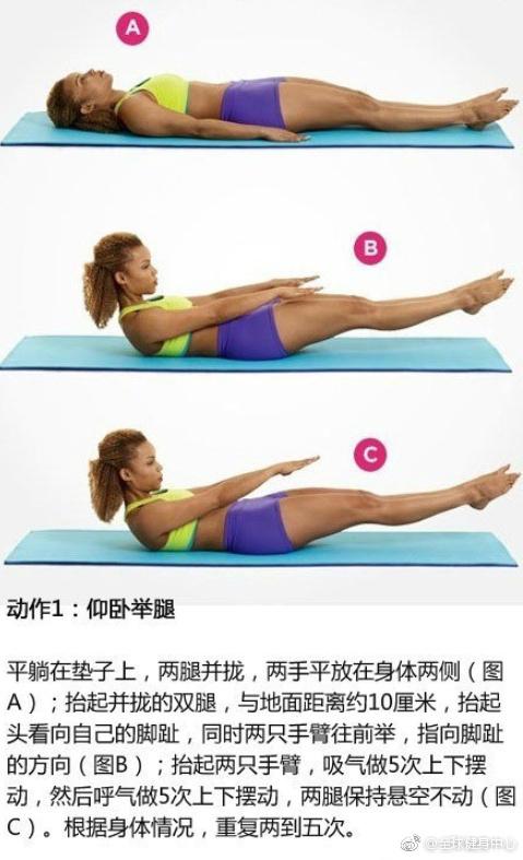 6个徒手马甲线瘦腹动作!一张瑜伽垫甩掉腰腹赘肉,每个动作20~30秒