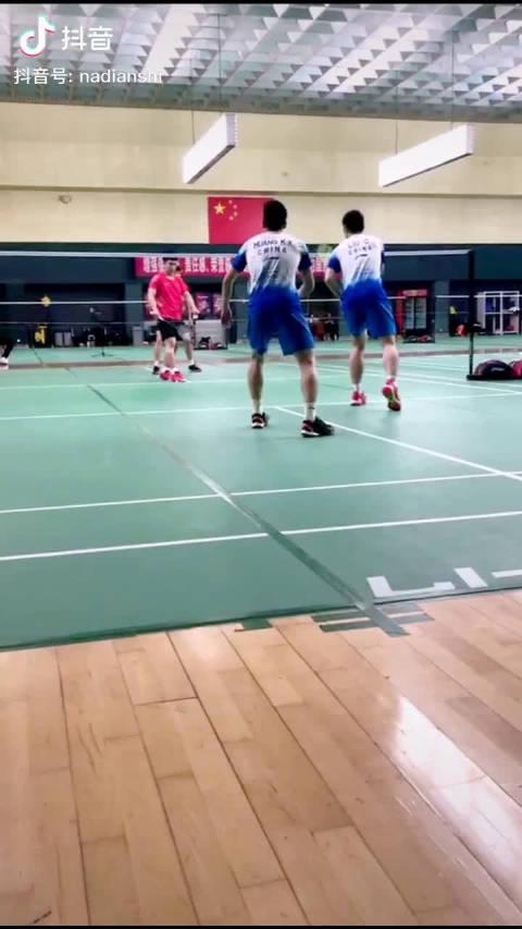 国羽队内练习赛:刘成/黄凯祥vs何济霆/谭强