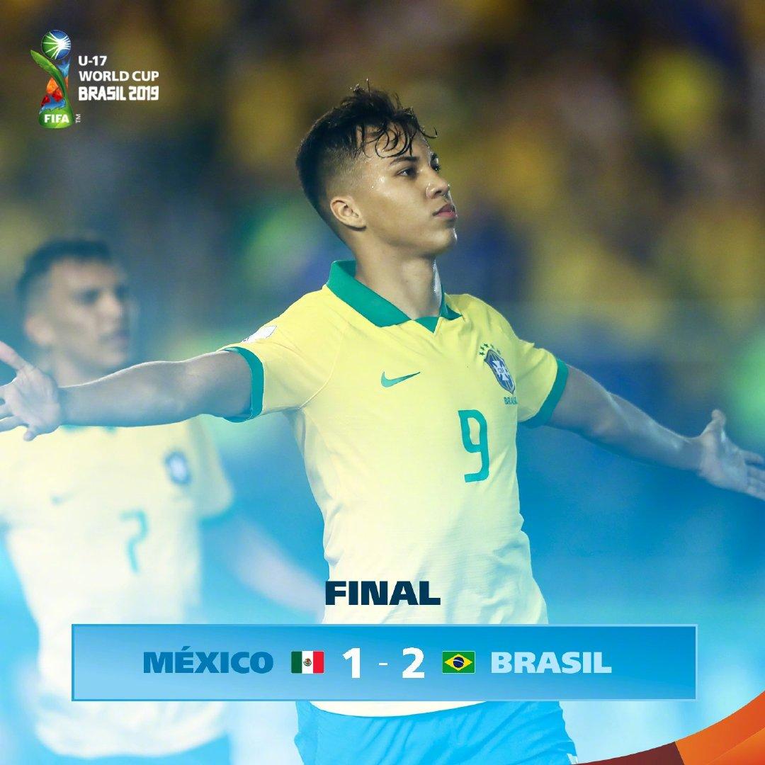 逆转、补时绝杀!巴西U17夺世青赛冠军