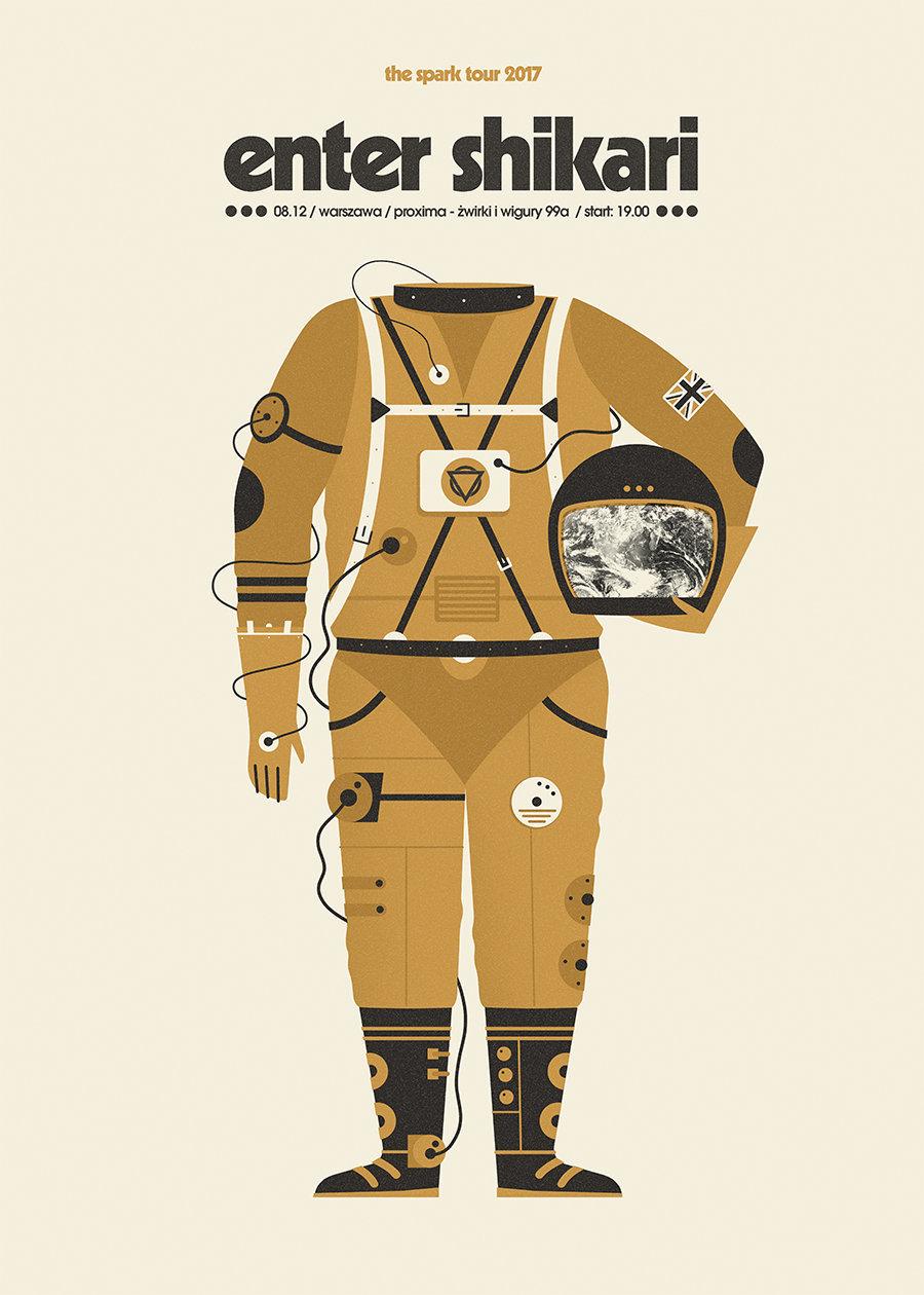 来自波兰插画师 Dawid Ryski 的矢量插画海报设计!