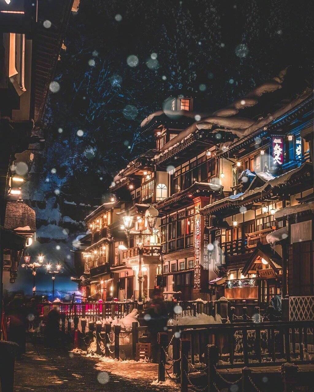 日本山形县银山温泉,《千与千寻》中神隐之地的现实版