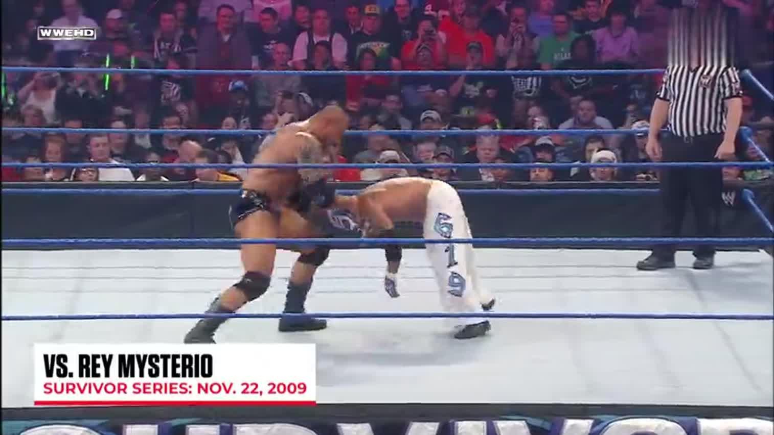 猛兽@巴蒂斯塔Batista 生庆视频WWE擂台横扫众传奇