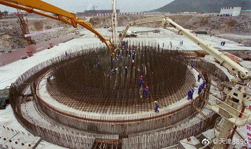 国家重点项目秦山核电站二期主体工程开工