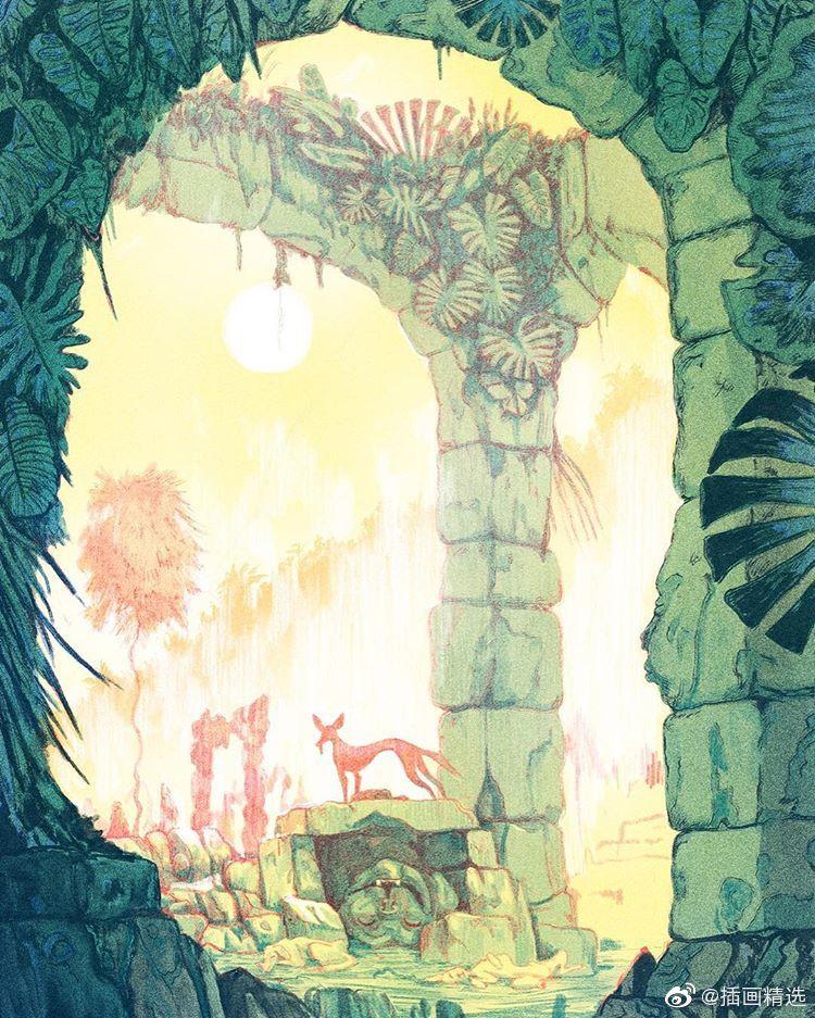 奇幻冒险森林主题插画-插画师Sean Lewis