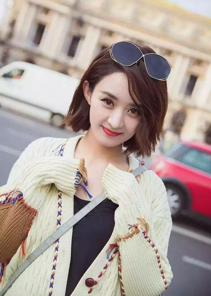 短发发型图片2019女圆脸 适合大脸的短发发型图片