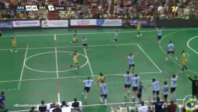 阿根廷男子手球25-24气死巴西,进军东京奥运会