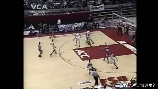 UFO降临!95年卡特22分16篮板9盖帽率队夺高中联赛冠军