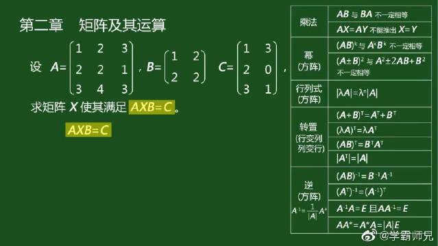 考研数学之线性代数版块,本节内容为矩阵及其运算。