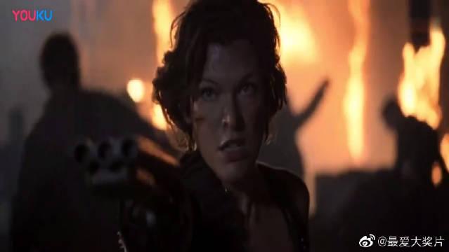 生化危机6:爱丽丝用汽油烧掉装甲车,这翁中捉鳖的感觉真好!