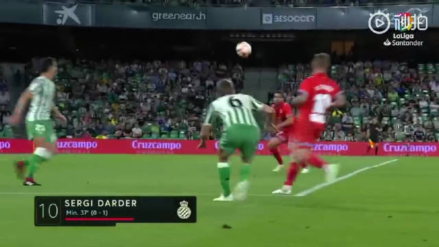 武磊替补登场 西班牙人1-1皇家贝蒂斯