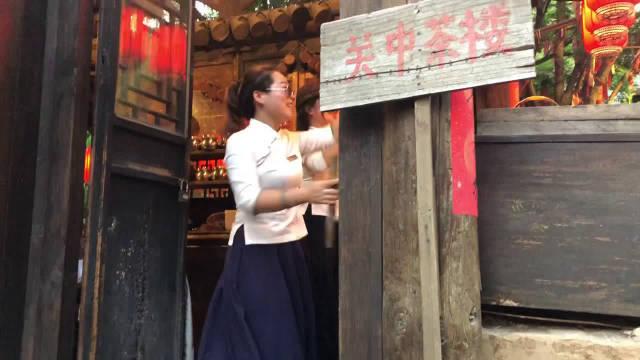 网红的风箱舞表演《从小卖蒸馍》,很带感!浓郁的陕西关中特色