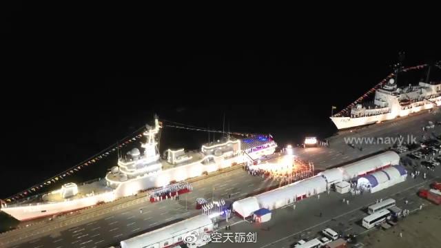 中国援赠的一艘护卫舰入列斯里兰卡海军