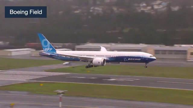 波音777X首飞结束,平稳降落,希望这是一个好的开始。