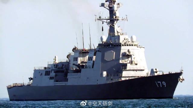 """日本海上自卫队""""摩耶""""号导弹驱逐舰海试归来"""