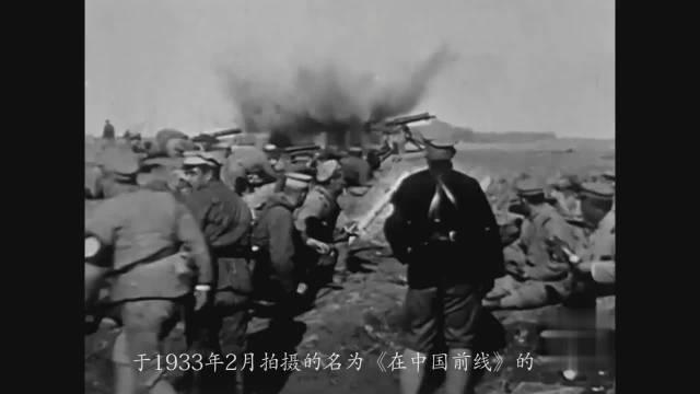记录镜头拍摄下抗日战场,一个个抗日烈士倒下…