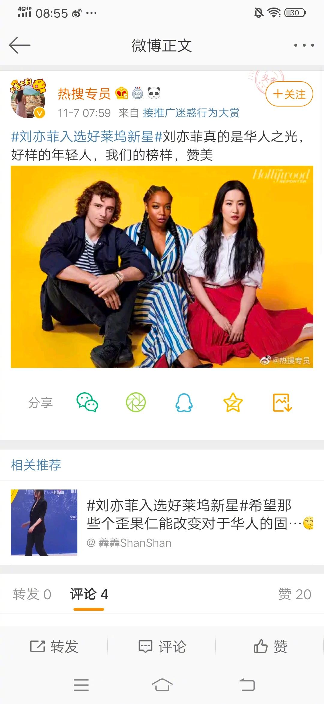 看到刘亦菲和王力宏,宣传是华人之光。周立波