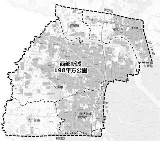 临沂西部新城规划发展 一座新城+一座岛=200平方公里