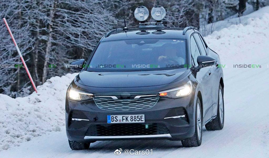 大众ID.4电动SUV套壳测试车谍照,新车将于2020年发布,国产版(ID