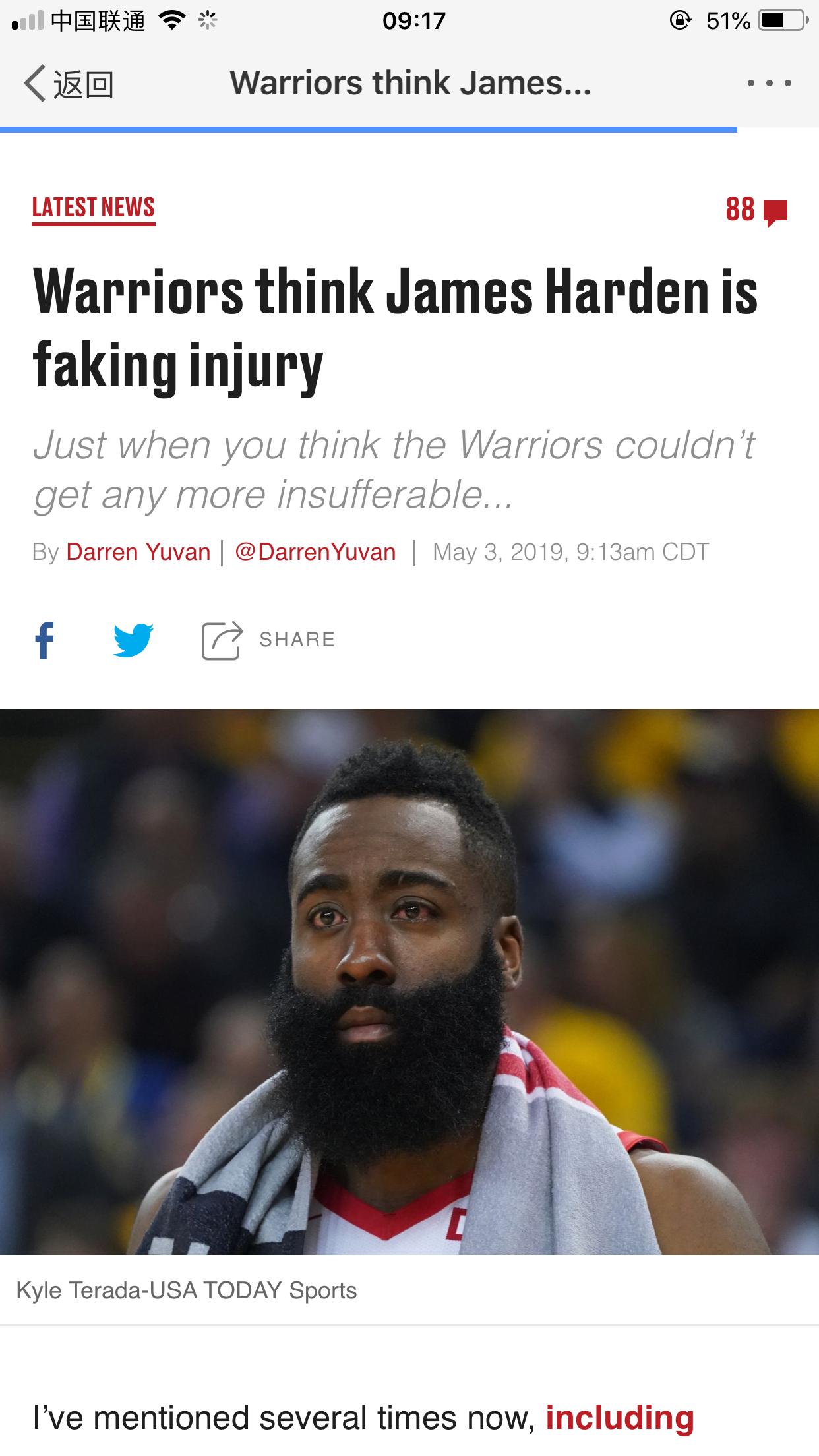 据美国雅虎体育记者克里斯-海恩斯透露