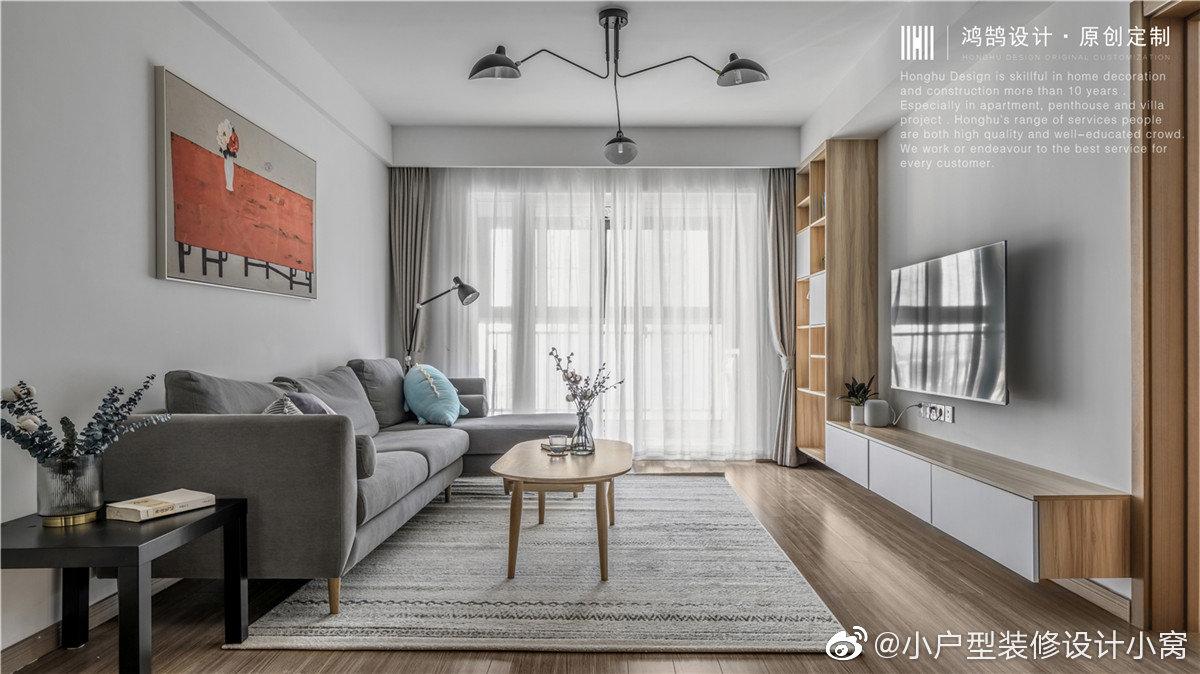 日式混搭北欧风格婚房,经典灰白木搭配营造自然温暖空间丨鸿鹄设计