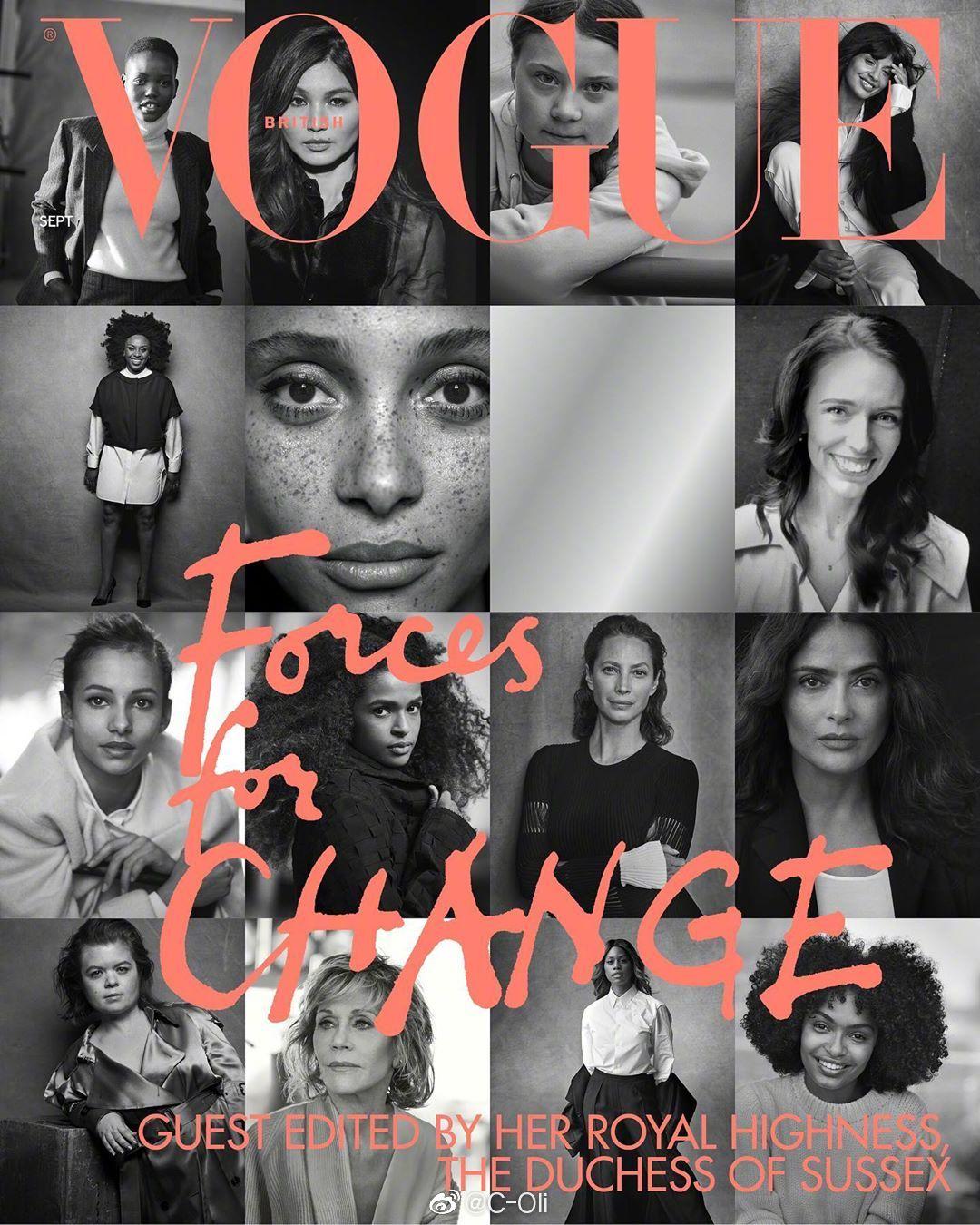 Adut Akech九月刊Vogue一共收获5封:英、意、德、日、澳(digital)