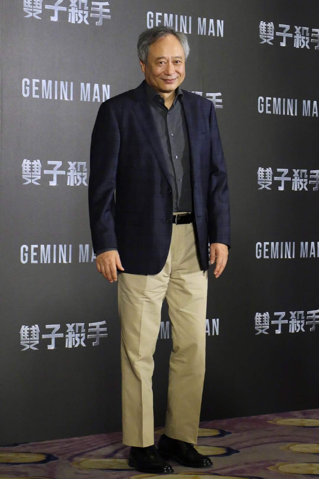 李安导演、威尔·史密斯在台北宣传《双子杀手》,努力为影片造势