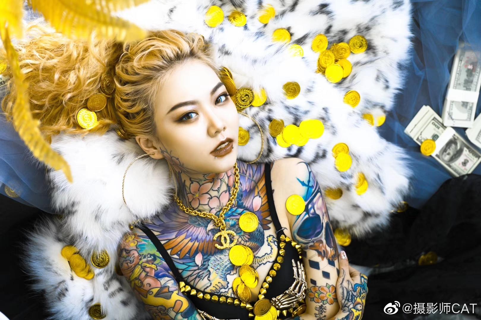 超级有范儿and专业的女纹身师 沧海刺青@沧海刺青MengY 纹身穿