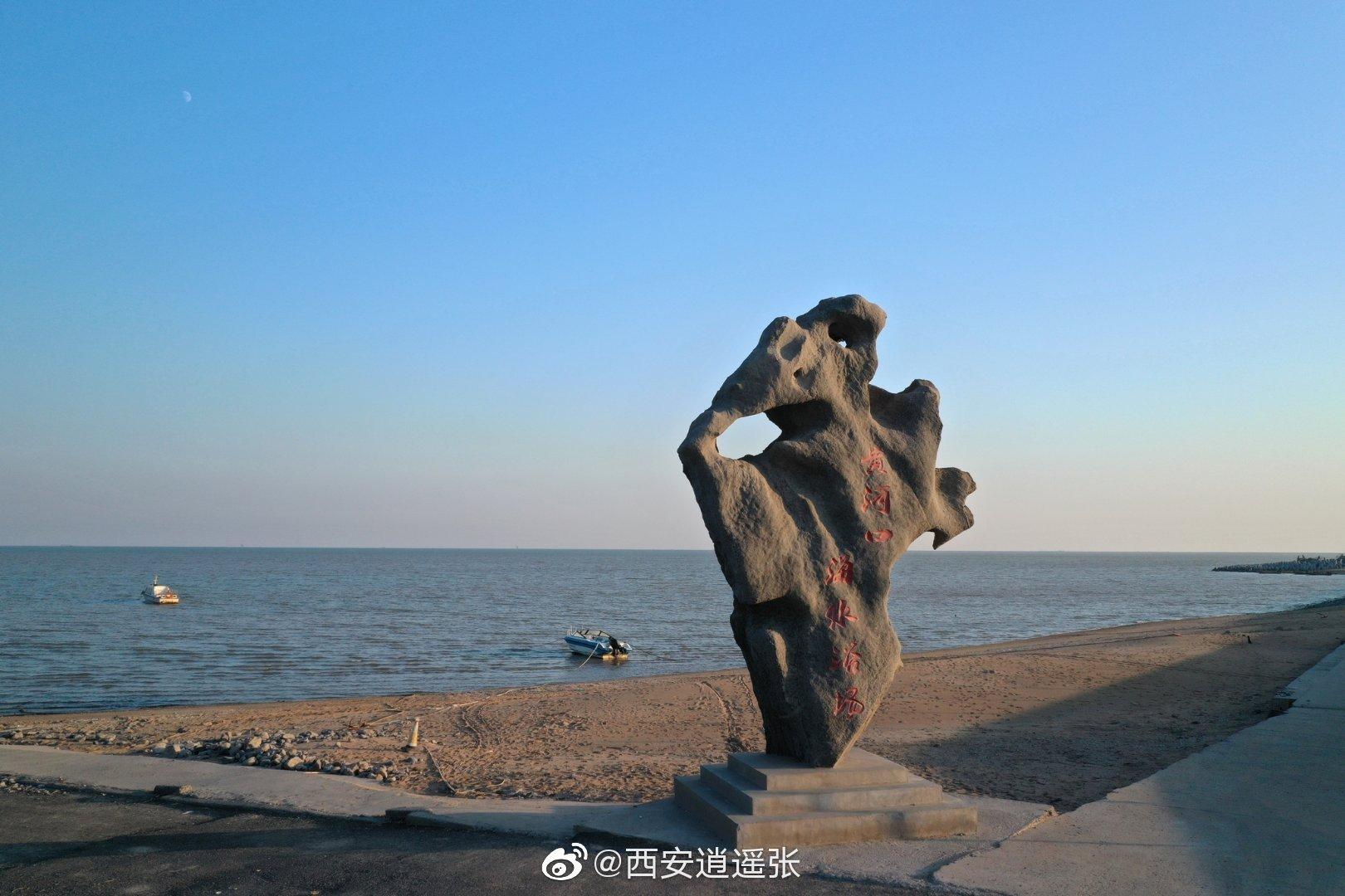 东营黄河口海水浴场位于垦利孤东油田海堤