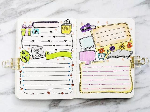 万能手帐手抄报模板来了,适用于各种节日,建议每个人收藏,实用图片