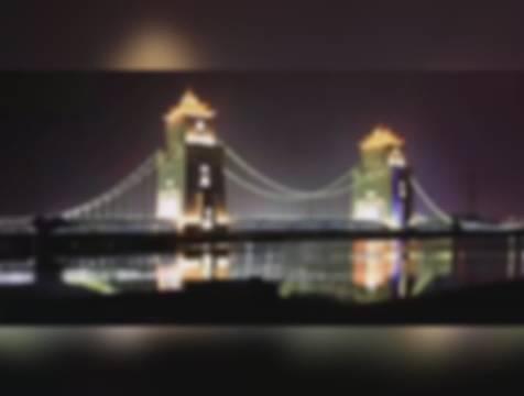扬州万福大桥的灯光真迷人。