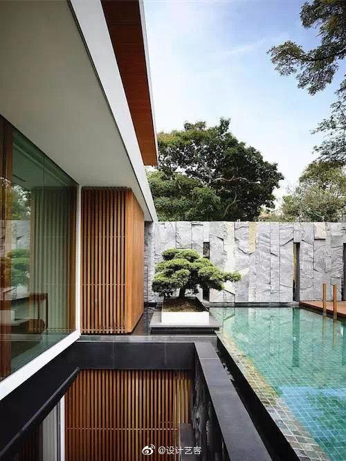 清新的庭院水池设计参考...