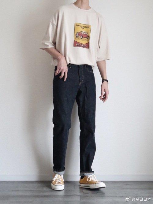 日本小哥哥的穿搭分享,盐系男孩儿的感觉啊!wear:gyn11