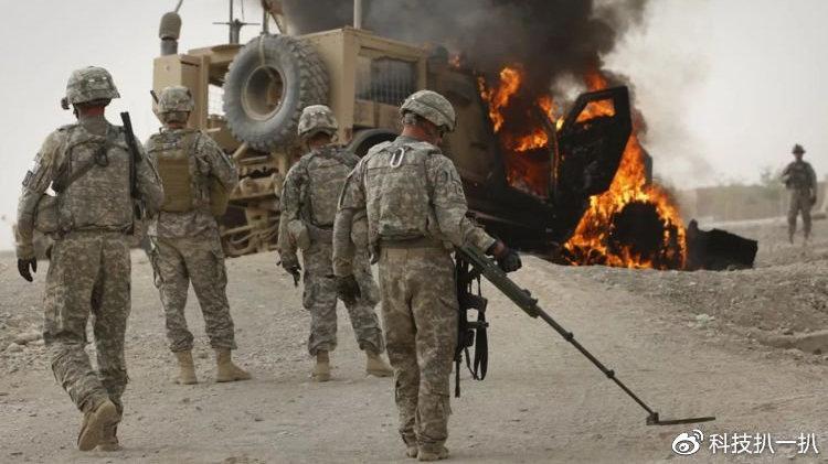 塔利班冷枪不断,美巡逻车被烈性炸药摧毁,多名士兵遇险